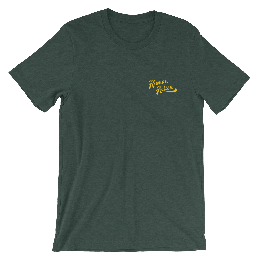 Embroidered Human Action Short-Sleeve Unisex T-Shirt - Human Action llc