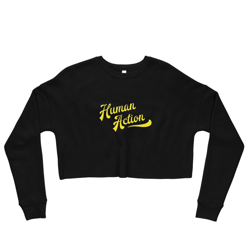 Human Action Crop Sweatshirt - Human Action llc
