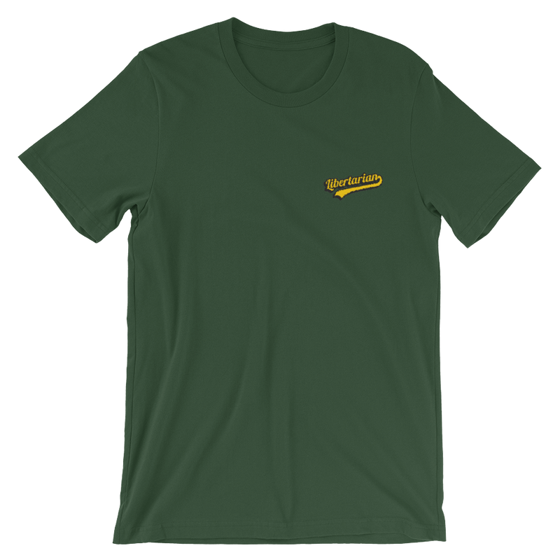 Embroidered libertarian Short-Sleeve Unisex T-Shirt - Human Action llc