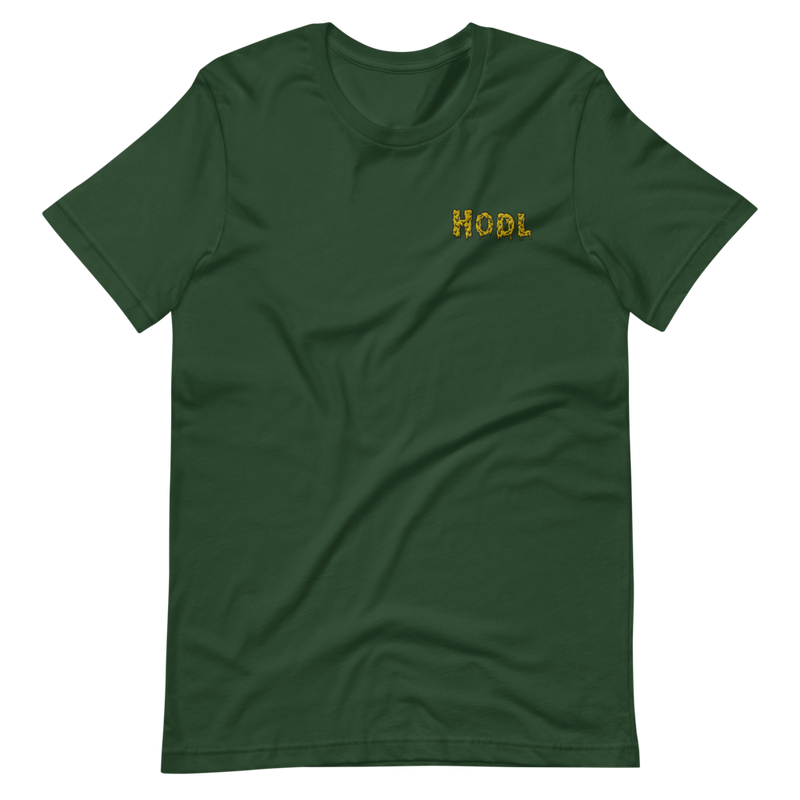 Embroidered Hodl Short-Sleeve Unisex T-Shirt