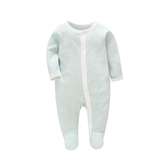 100% Cotton Soft Mint Green Footed Bodysuit - Dee Republic
