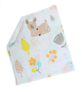 Bambi in the Woods Soft 100% Organic Muslin Cotton Swaddle Blanket - Dee Republic