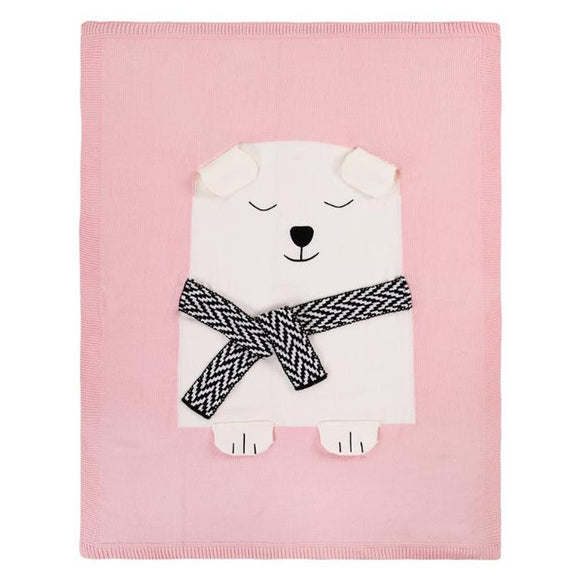 Beautiful Soft Knitted Bear Blanket - Dee Republic
