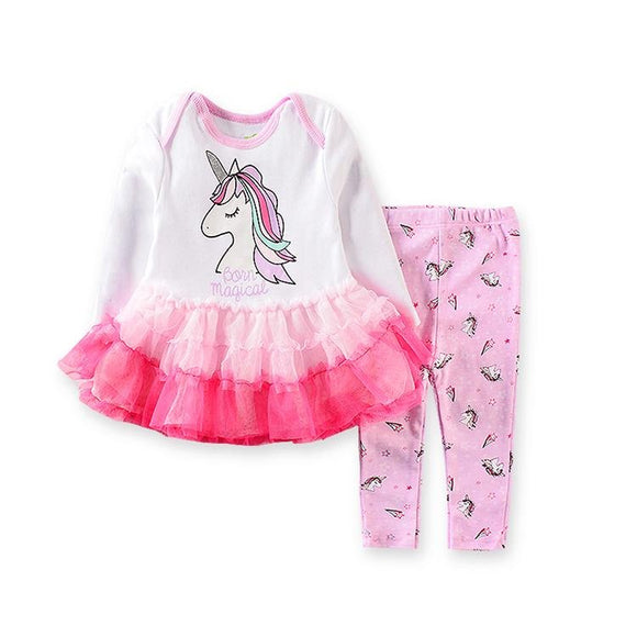 Born Magical Unicorn Tutu Dress Top & Pants- 2 Piece - Dee Republic