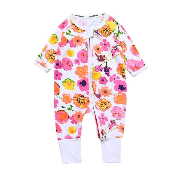 Colourful Pink Floral Mix Design Jumpsuit - Dee Republic