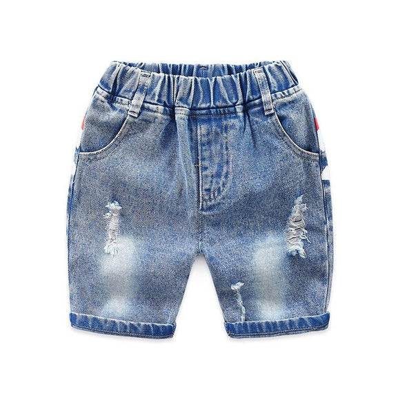Denim Shorts with Shark Mouth at Back - Dee Republic