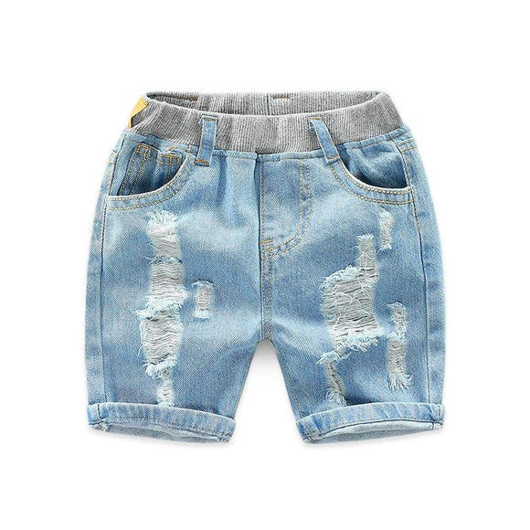 Fade Wash Distressed Denim Shorts - Dee Republic
