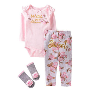 Flowers Make Me Happy Floral Outfit - 3 piece - Dee Republic