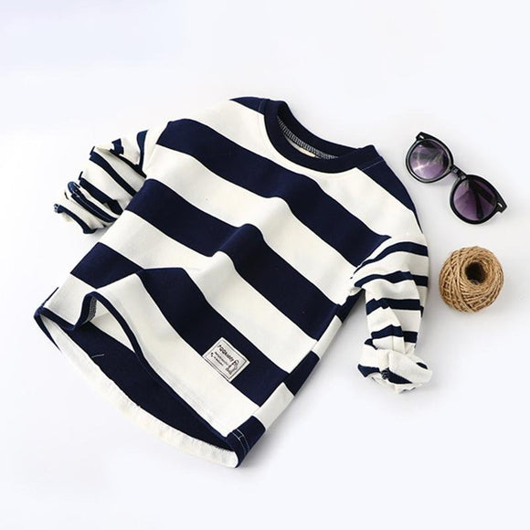 Long Sleeve Striped Top - Dee Republic