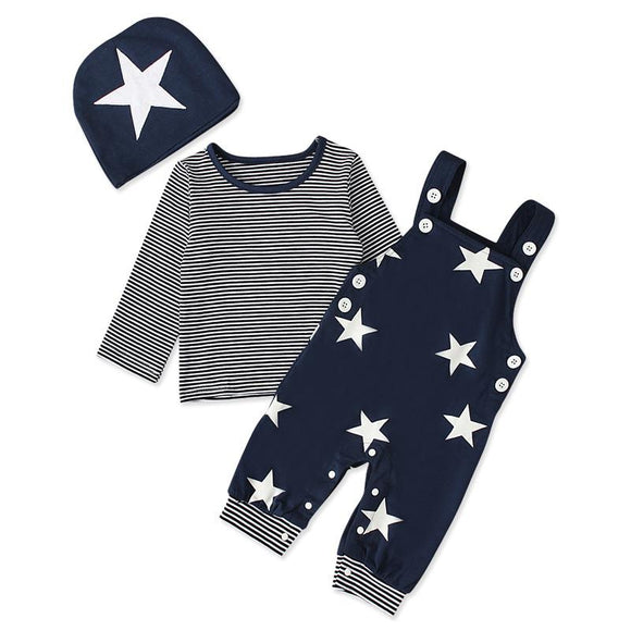 Navy & White Stars Winter Outfit - 3 Piece - Dee Republic