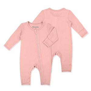 Organic Bamboo Fiber Pink Jumpsuit with Zip - Dee Republic
