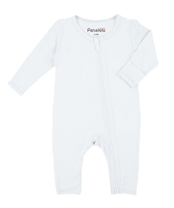 Organic Bamboo Fiber White Jumpsuit with Zip - Dee Republic