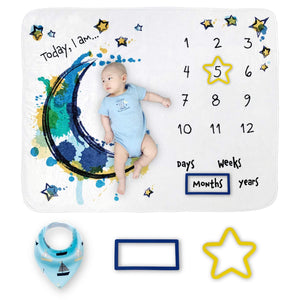 Premium Boys Large Plush Fleece Milestone Blanket - Dee Republic
