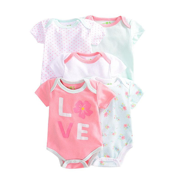 Pretty Pastels Mix Bodysuit Set - 5 Piece - Dee Republic