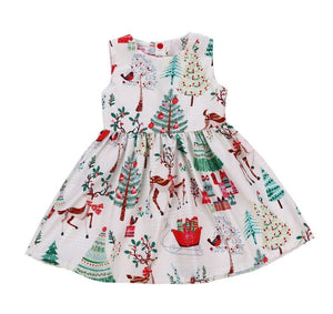 Pretty Summer Girls Sleeveless Christmas Dress - Dee Republic