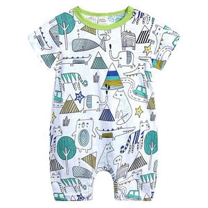 Shades of Green Animal & Nature Print Summer Bodysuit - Dee Republic