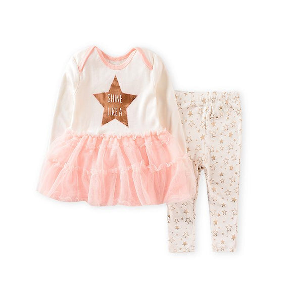Shine Like A Star Tutu Dress Top & Pants- 2 Piece - Dee Republic