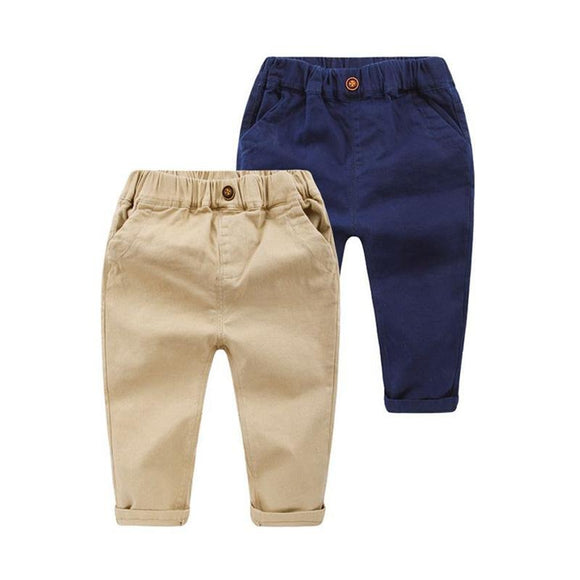 Slim Cut Boys Cotton Chino Pants - Dee Republic