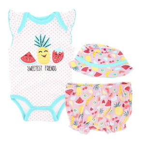 Sweetest Friends Tropical Fruit Baby Girls Beach Summer Set 3 pc - Dee Republic