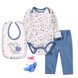 Sweetest Kissed Blue/White Outfit - 4 Piece Set - Dee Republic