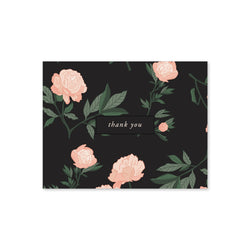 Thank You Notes, Black Floral