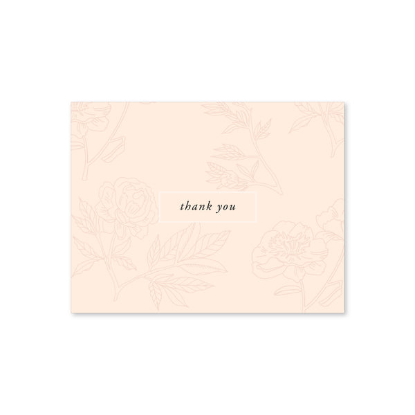 Thank You Notes, Blush Floral