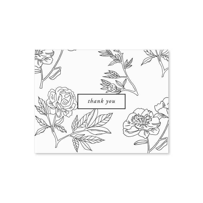 Thank You Notes, Ivory Floral
