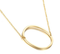 Gold Initial Shape Necklace