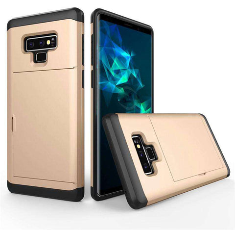 Samsung Galaxy Note 9 Pure Color Creative Phone Case With Card Holder gallery 4
