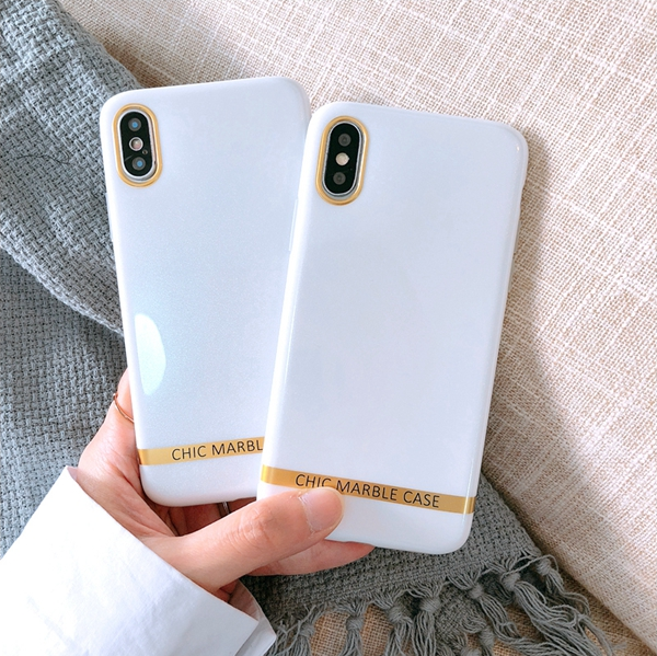White Soft Chic Marble iPhone Case
