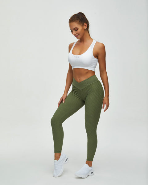 High Waist Butt Lifting Seamless Textured Leggings gallery 8