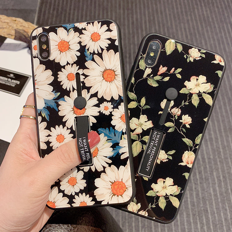 Little Daisy Print With Wrist Strap And Phone Stand Phone Case For All Apple Phone - Iphone XS MAX