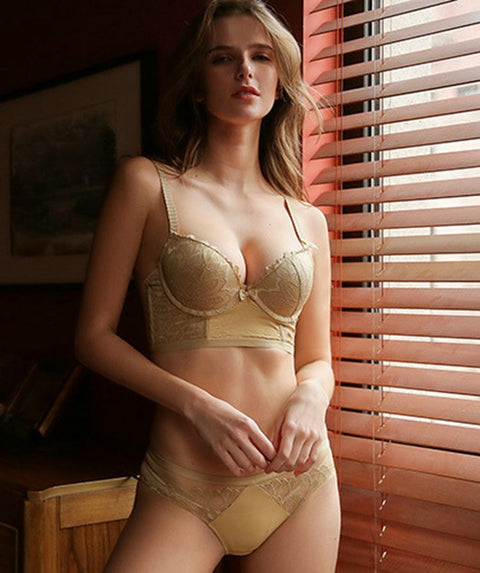 Wicked Floral Lace Push-up Lingerie Set gallery 8