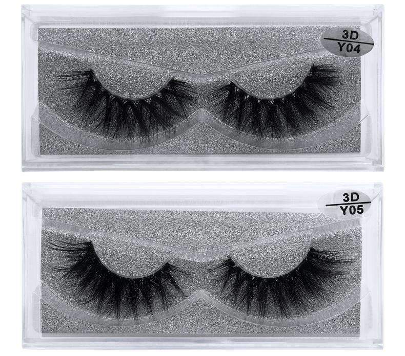 Mink Hair Natural Looking False Fake Eyelashes Cross Thick Eye Lashes y04