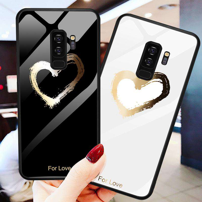 Luxury Contracted Heart Printed Samsung Case