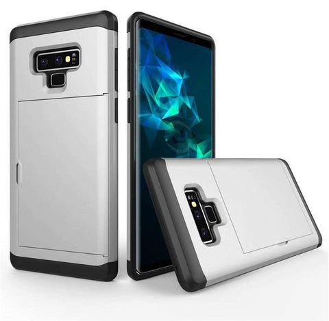 Samsung Galaxy Note 9 Pure Color Creative Phone Case With Card Holder gallery 6