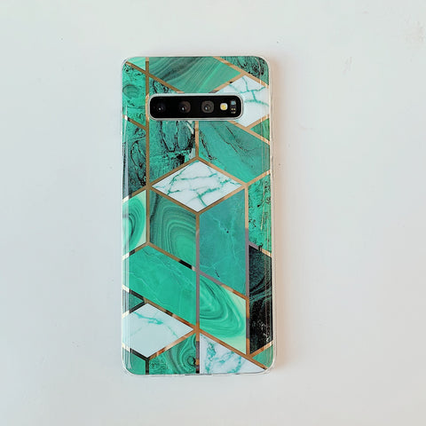 Marble Electroplated Detail Phone Case for Samsung gallery 9