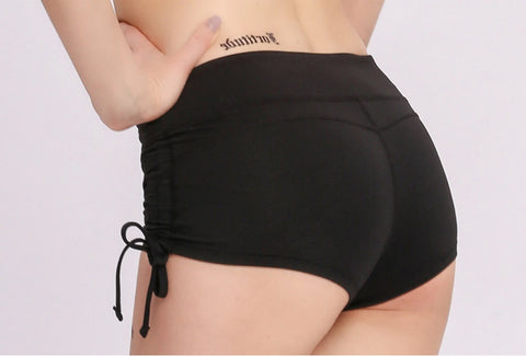 Solid Side Drawstring Butt Lifting Active Shorts gallery 6