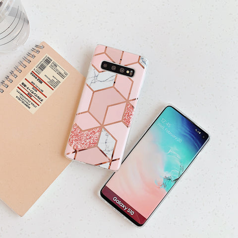 Electroplate Rhombus Marble Phone Case for Samsung gallery 5