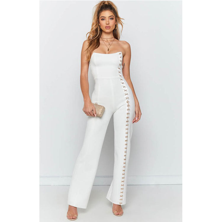 Bardot Hook and Eye Detail Jumpsuit