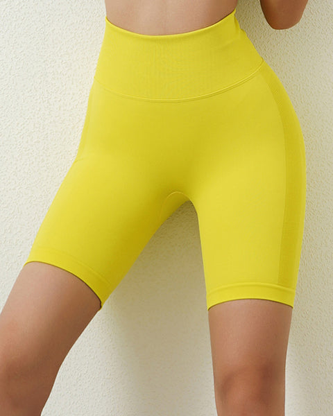 Space Dye Textured Seamless Butt Lifting Sports Shorts gallery 1
