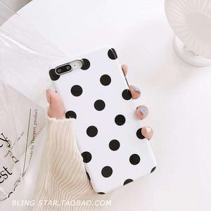 Black And White Polka Dot iPhone Case