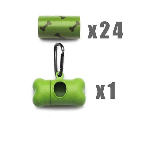 Pet Puppy Use Poop Dispenser Green Bone Shaped With Degradable Bags gallery 5