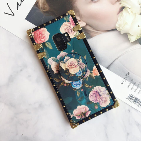 Floral Print Phone Case for Samsung with Phone Holder gallery 6