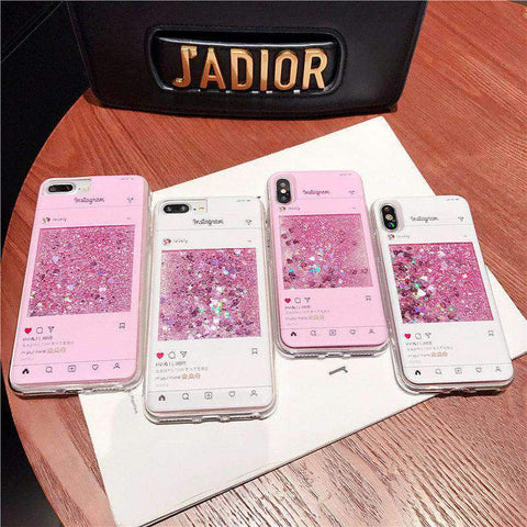 Creative Chat Page Designed Liquid Bling Glitter Samsung Case gallery 4