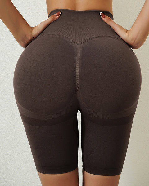Space Dye Textured Seamless Butt Lifting Sports Shorts gallery 19