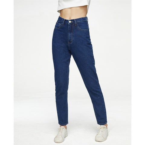 High Rise Stretch Straight-Leg Ankle Jeans