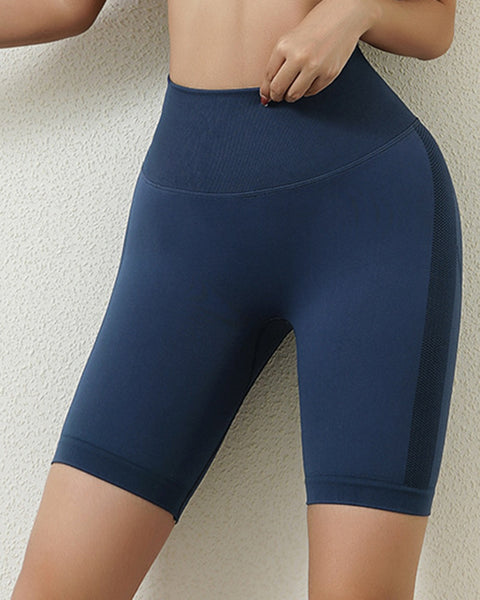 Space Dye Textured Seamless Butt Lifting Sports Shorts gallery 4
