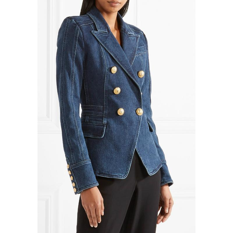 Denim Colors Double Breasted Blazer