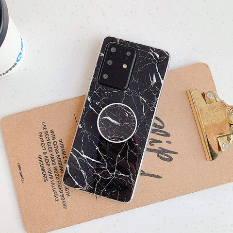 Smooth Marble Crack Detail Phone Case with Phone Holder gallery 12